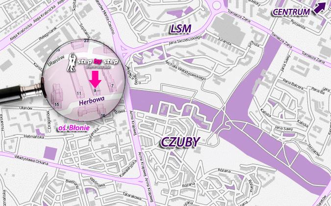 mapa dojazd